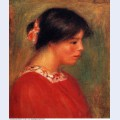 Head of a woman in red