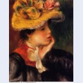 Head of a young woman yellow hat 1894