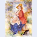 Motherhood woman breast feeding her child 1886