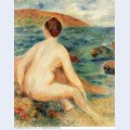 Nude bather seated by the sea 1882