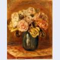 Roses in a blue vase 1