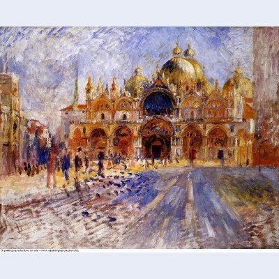 The piazza san marco 1881