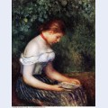 The reader seated young woman 1887