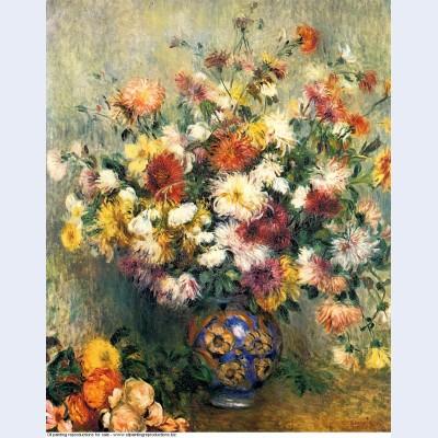 Vase of chrysanthemums 1882