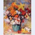 Vase of chrysanthemums 1890