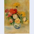 Vase of roses and dahlias 1884