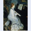 Young woman at the piano 1876