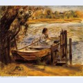Young woman in a boat lise trehot 1870