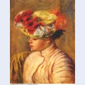 Young woman in a flowered hat 1892