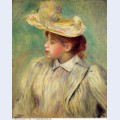 Young woman in a straw hat