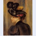 Young woman wearing a black hat 1895