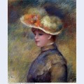 Young woman wearing a hat