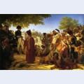 Napoleon bonaparte pardoning the rebels at cairo