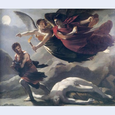 Justice and divine vengeance pursuing crime