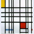 Composition with red yellow and blue 1942