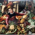 Market woman at a vegetable stand