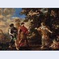 Venus appearing to aeneas as a huntress