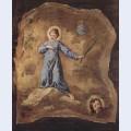 Fresco in san pantalon in venice scene holy martyr fragment