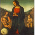 Madonna an angel and little st john adoring the child