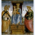 Virgin enthroned with saints catherine of alexandria and biagio