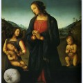 Virgin with a child st john and an angel madonna del sacco