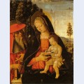 Madonna with writing child and st jerome