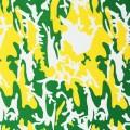 Camouflage c 1987 green yellow white