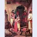 Krishna meets parents