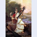 Painting of the goddess saraswati