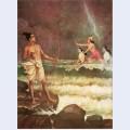 Sri rama vanquishing the sea