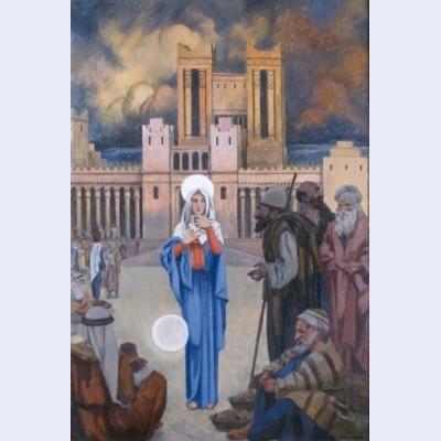 Apparition devant le temple