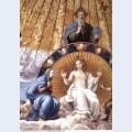 Disputation of the holy sacrament detail 1510