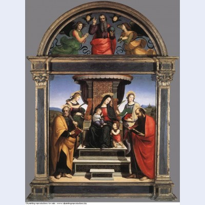 Madonna and child enthroned with saints 1505