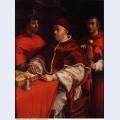 Portraits of leo x cardinal luigi de rossi and giulio de medici 1518