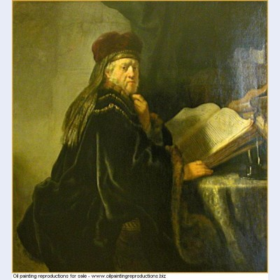 A scholar seated at a table with books 1634