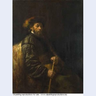 A seated man