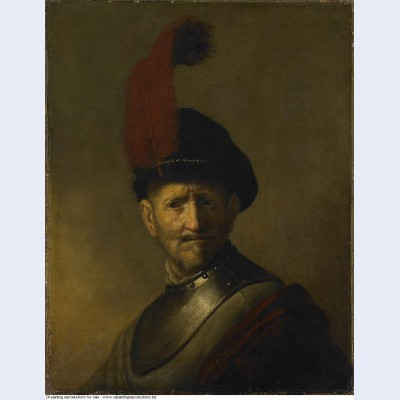 An old man in military costume formerly called portrait of rembrandt s father 1630