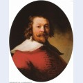 Portrait of a bearded man bust length in a red doublet 1633