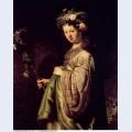 Saskia as flora 1634 oil on canvas 1634