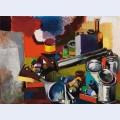 Tavolo e oggetti nello studio