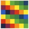 Sechs systematische farbreihen mit blaugr nen und violetten akzenten