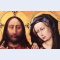 Blessing christ and praying virgin