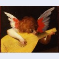Playing putto musician angel