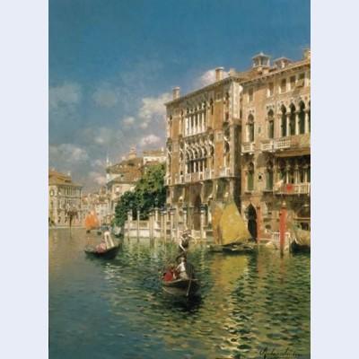A gondola ride venice