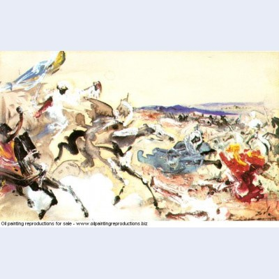 Arabs study for the battle of tetuan