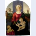 Madonna and child with st john the baptist