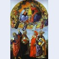 The coronation of the virgin altarpiece of st mark