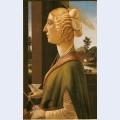 Woman with attributes of saint catherine so called catherina sforza sandro botticelli