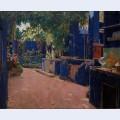 Blue courtyard arenys de munt