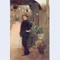 The painter miguel utrillo in the gardens of the moulin de la galette